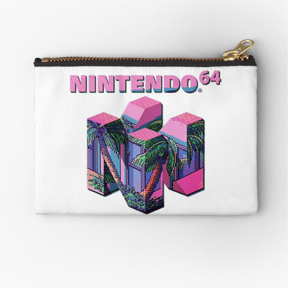Nintendo 64 Aesthetic Zipper Pouch