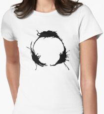 """Heptapod B (Translation: """"TIME"""" [Nonlinear]) Womens Fitted T-Shirt"""
