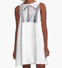 Detail, Silk Blouse A-Line Dress
