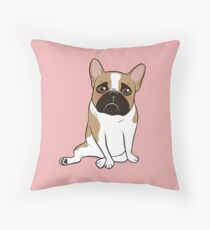 Pouty Cute Black Mask Pied French Bulldog Wants Your Love Throw Pillow