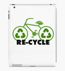 Reuse Reduce Re-cycle Awesome Environmentally Friendly Biking Tshirt iPad Case/Skin