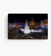 Bellagio Fountains Canvas Print