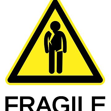 Fragile Person, Yellow Triangle by lhabc