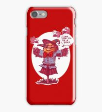 scarecrow gives friendship message cartoon iPhone Case/Skin