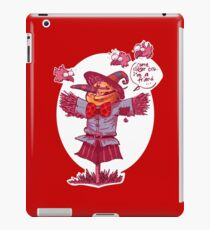 scarecrow gives friendship message cartoon iPad Case/Skin