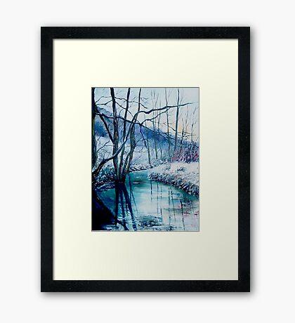 River Hileau in winter Framed Print