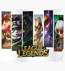 Teemo Aspectos League Of Legends Poster