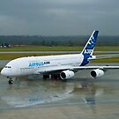 A380 in Vancouver by P Michaud