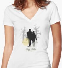 Simply Sleepy Hollow Women's Fitted V-Neck T-Shirt