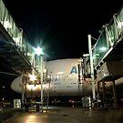 A380 & Passenger Boarding Bridges (YVR) by P Michaud