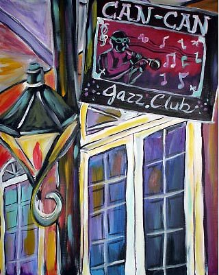 Can-Can Jazz Club  by Angel Turner Dyke