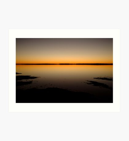Sunrise, Lake Caroline, North Simpson Desert Art Print