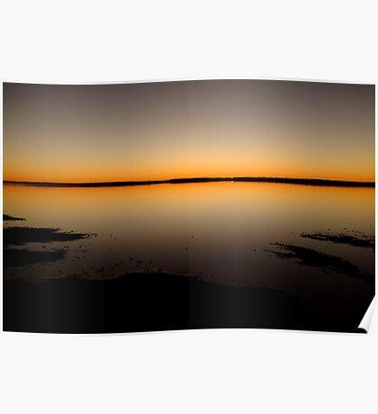 Sunrise, Lake Caroline, North Simpson Desert Poster