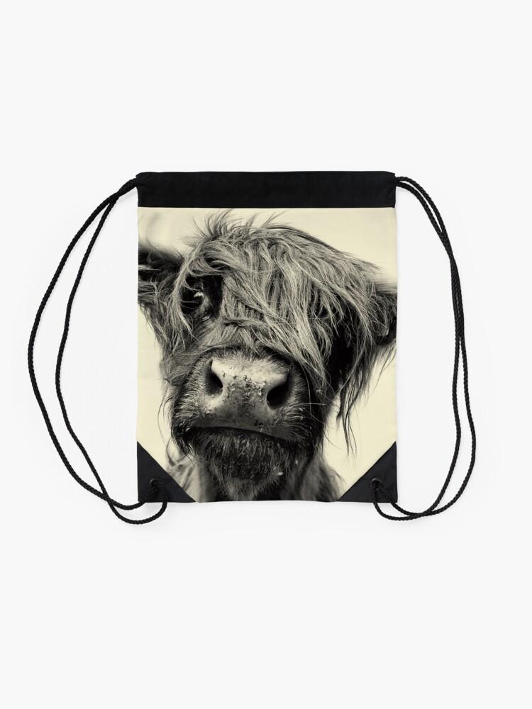 Alternate view of Highland Cow Drawstring Bag