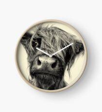Highland Cow Clock