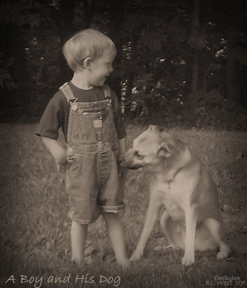 A Boy and His Dog by Beckylee