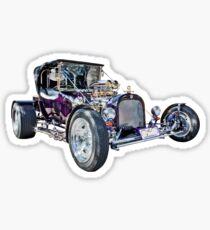 Purple T Bucket Hot Rod Sticker