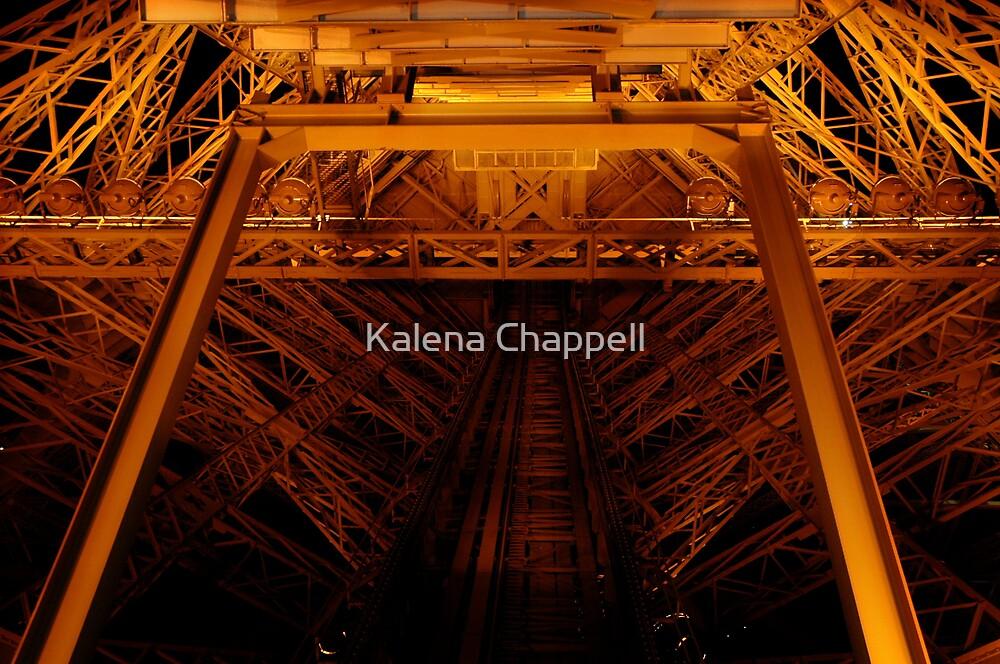 Eiffel Tower Elevator Shaft by Kalena Chappell
