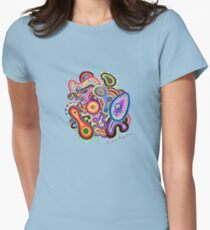 Amoeba Art Women's Fitted T-Shirt