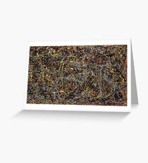 Jackson pollock Greeting Card