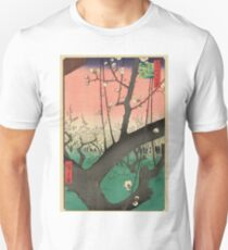 Japanese Art - One Hundred Views of Edo 30 - Plum Garden Kameido (1857) Unisex T-Shirt