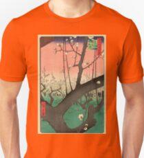 Japanese Art - One Hundred Views of Edo 30 - Plum Garden Kameido (1857) Unisex T-Shirt