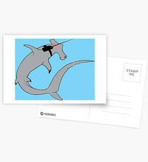 Sharks with lasers on their heads Postcards