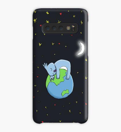 Cute Koala Hugging Earth at Night Illustration Case/Skin for Samsung Galaxy