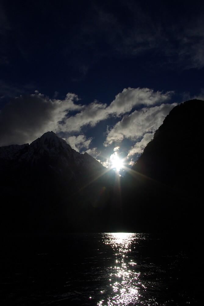 Sunlight in Milford Sound by Geoff46