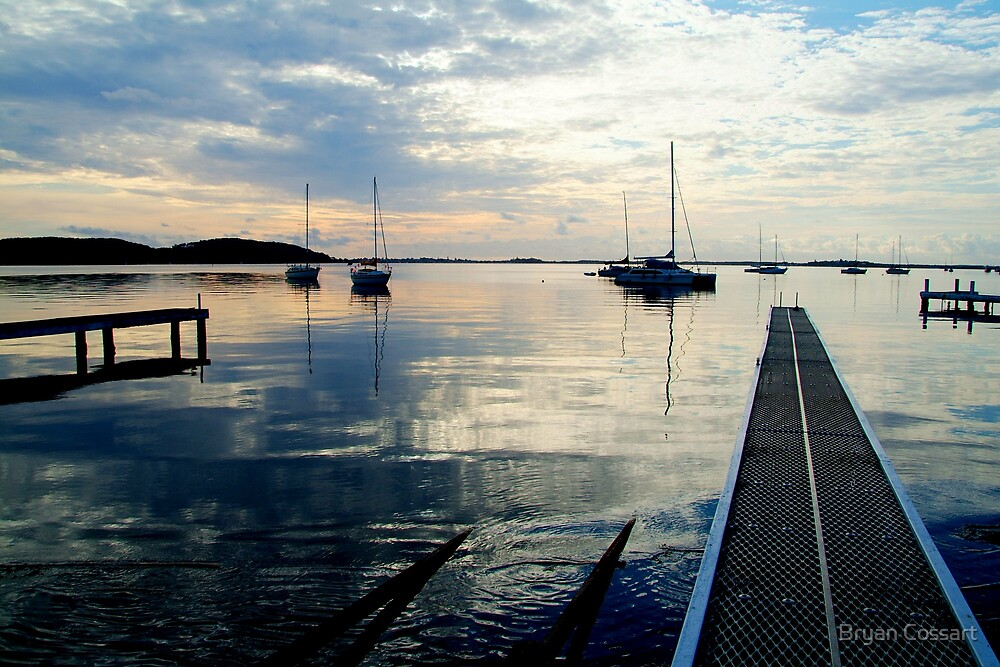 Lake Macquarrie Jetty by Bryan Cossart