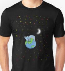 Cute Koala Hugging Earth at Night Illustration Unisex T-Shirt