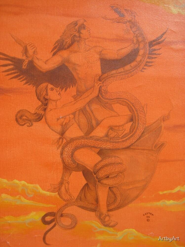 The Orange Battle by ArtbyArt
