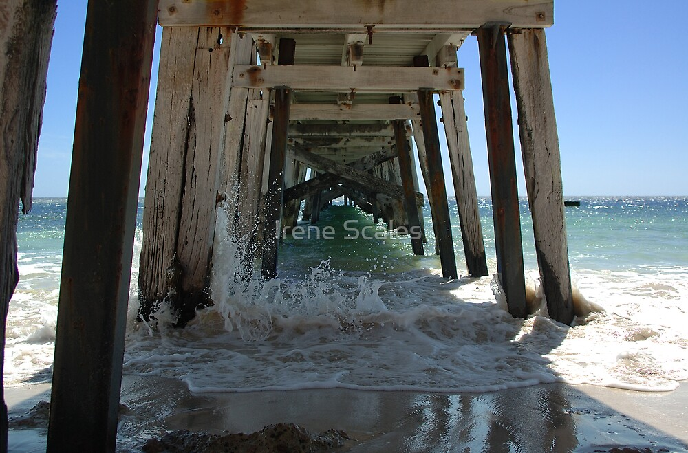 Under the jetty by Irene Scales