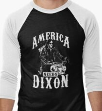 America Needs Dixon Men's Baseball ¾ T-Shirt
