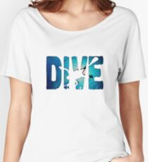 Scuba Diving t-Shirt ~Diver in The Deep Water Women's Relaxed Fit T-Shirt