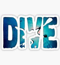 Scuba Diving t-Shirt ~Diver in The Deep Water Sticker