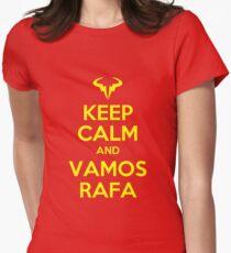 Keep Calm and Vamos Rafa Women's Fitted T-Shirt