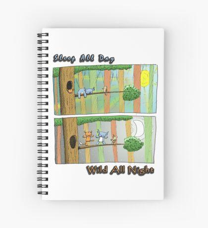 Sleep All Day - Wild All Night (Australian Wildlife) Spiral Notebook