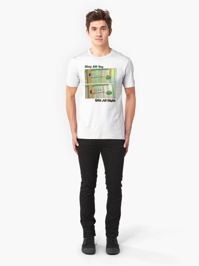 Alternate view of Sleep All Day - Wild All Night (Australian Wildlife) Slim Fit T-Shirt