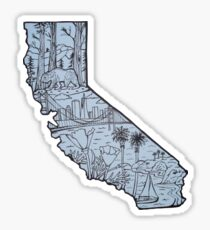 California State Outline Sticker