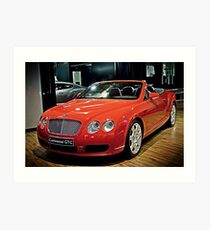 Bentley Continental GTC Art Print