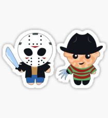 Kid Jason and Kid Freddy Sticker