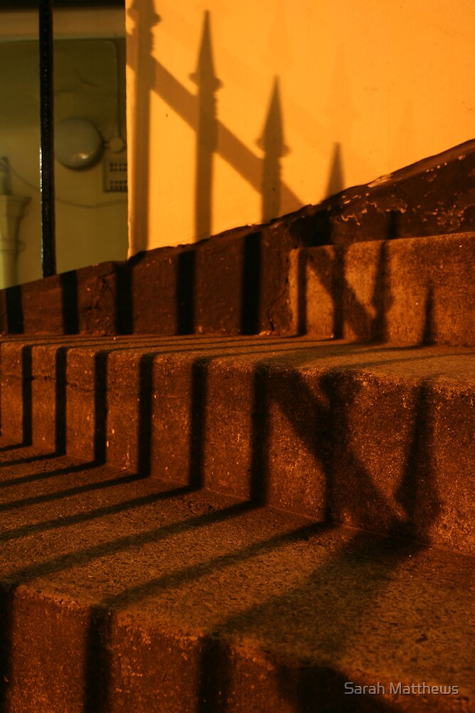 Spiked Railings and Steps by Sarah Matthews