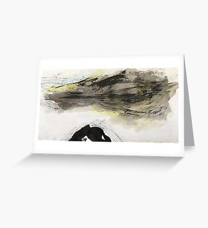 ominous cloud...storm over black peak Greeting Card
