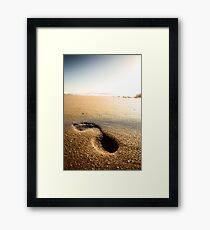Footprint Framed Print