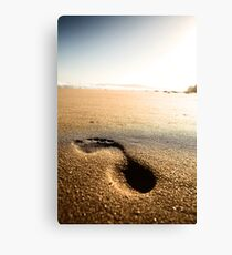 Footprint Canvas Print
