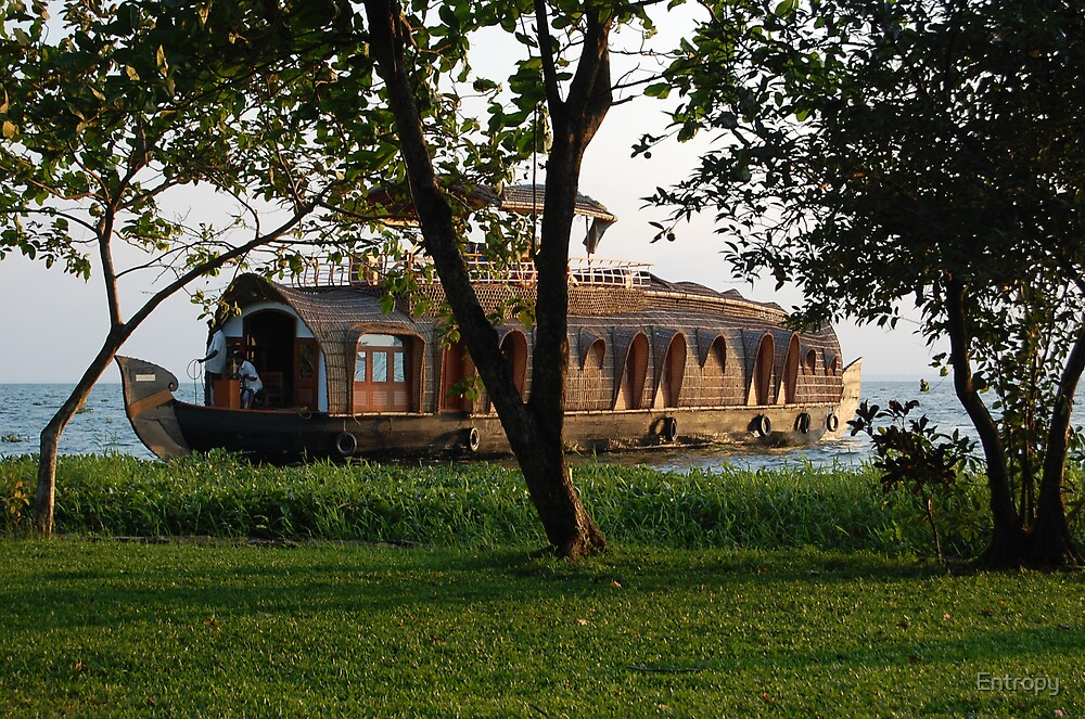 Traditional Kerala Houseboat by Entropy