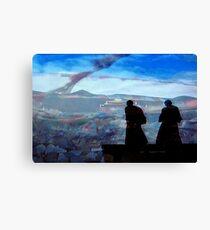 Buddhist Monks go for a walk Canvas Print