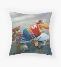 1975 Skate Champion Throw Pillow