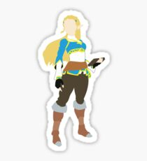 BOTW Zelda Blocky Sticker